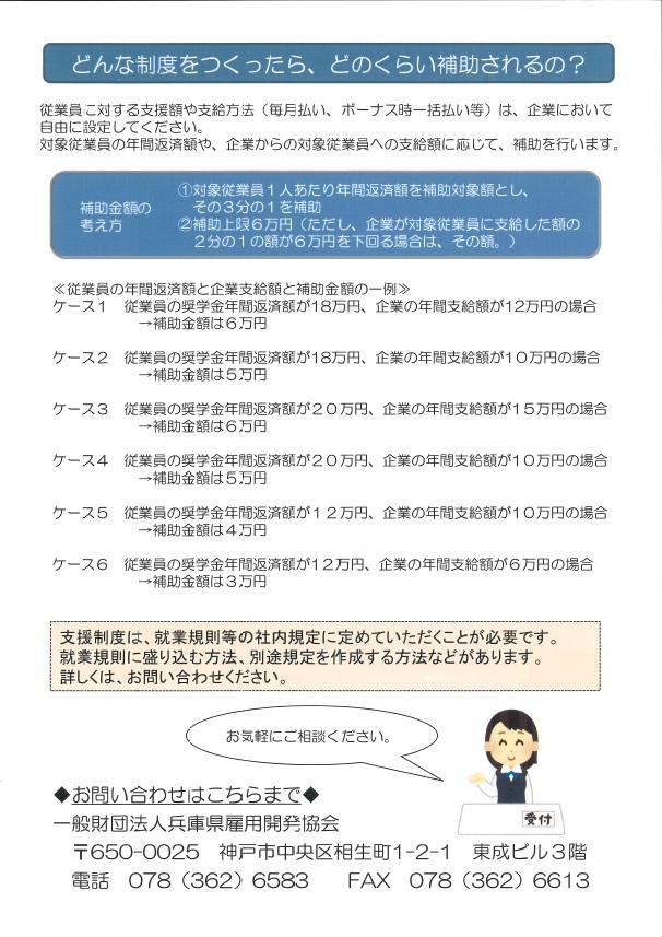 兵庫県奨学金(裏)